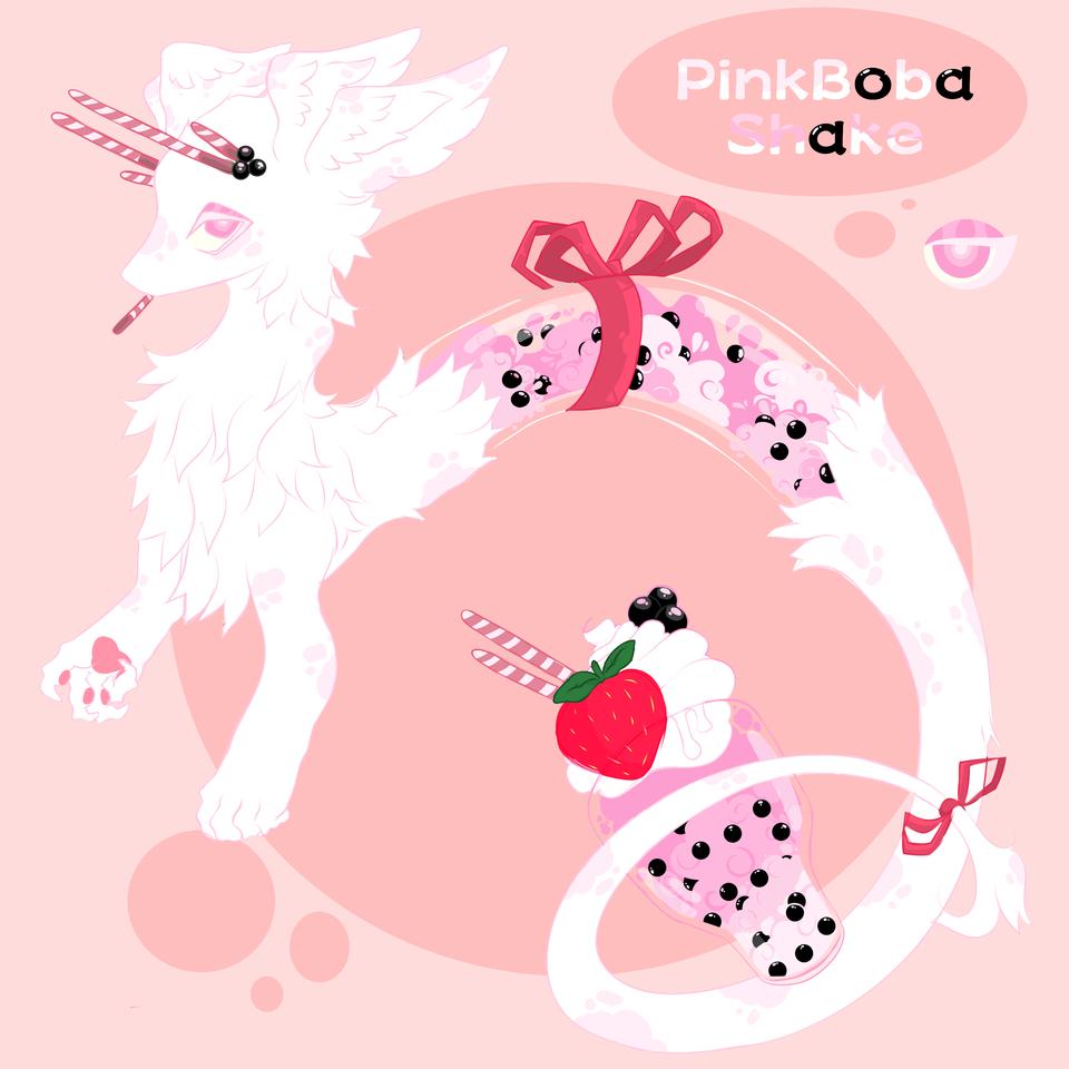 PinkBobaShake (adopt) Illust of That Cat medibangpaint adopt furry creature furry food