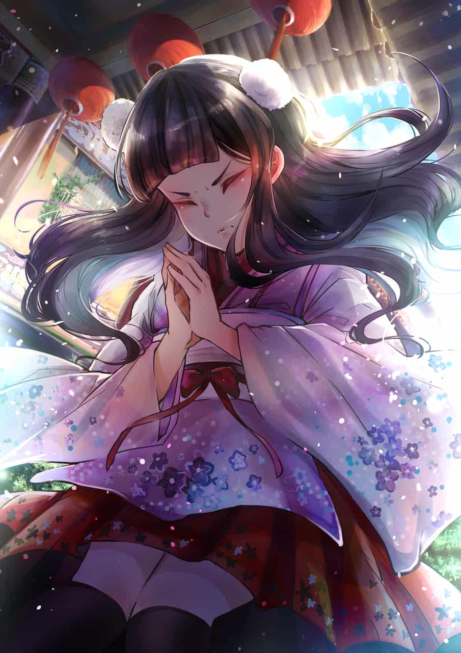 禱 Illust of 楊白 Kyoto_Award2020_illustration original kimono illustration