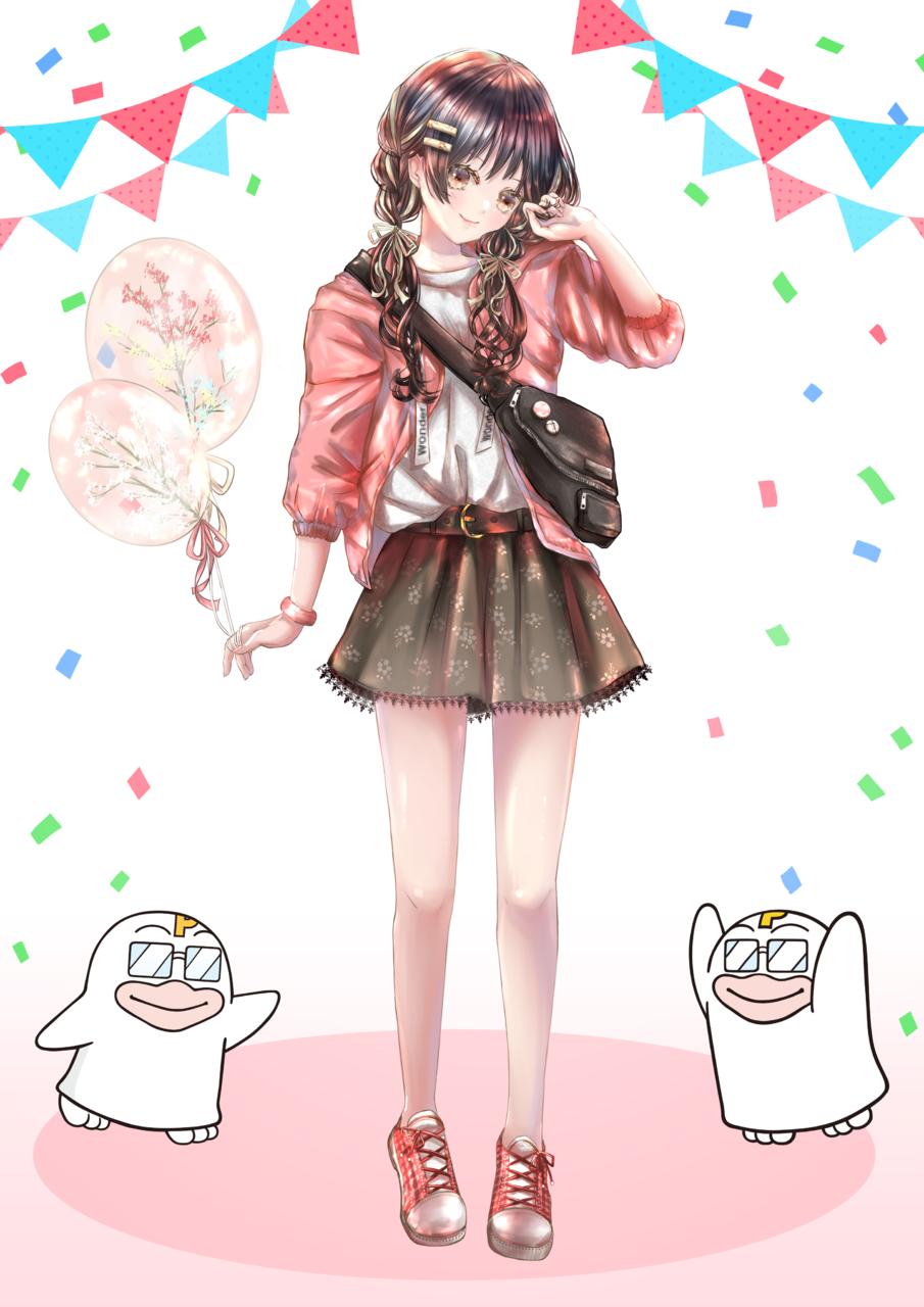 PICOQガールフレンド Illust of りぃ🍎 PICO公式キャラクターPICOQガールフレンド大募集!!コンテスト girl original