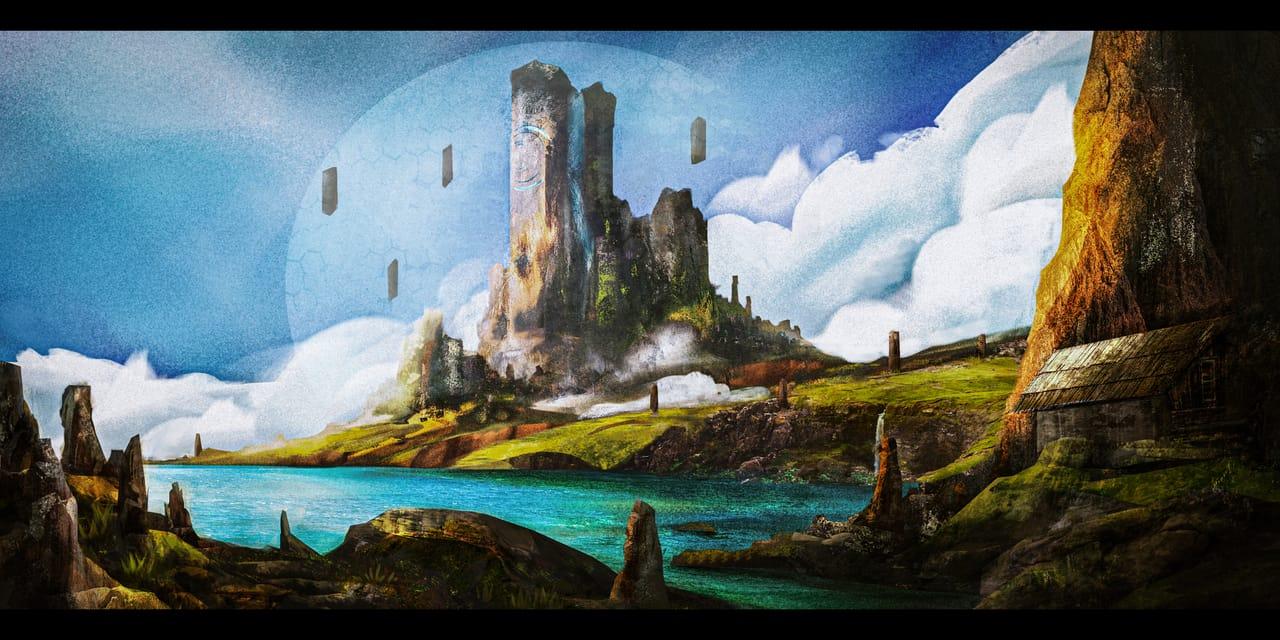 landscape Illust of Zeparevan digital painting scenery illustration