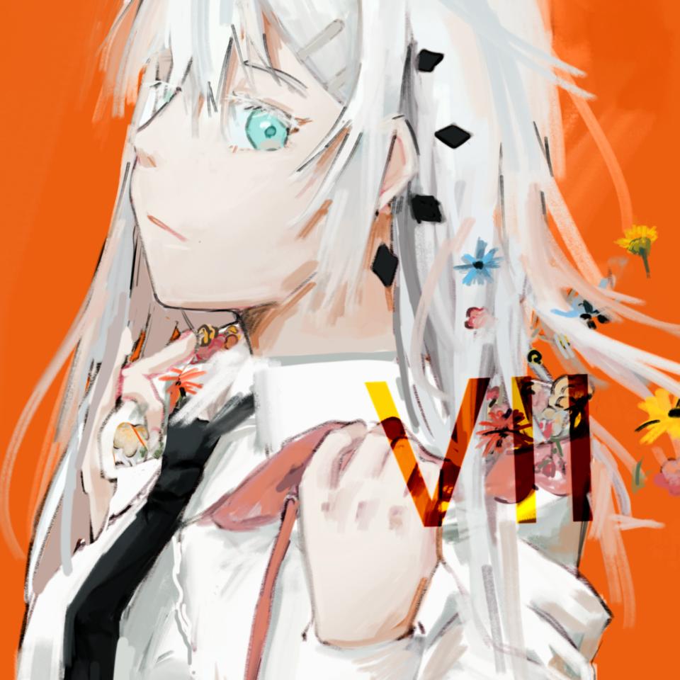 vii Illust of 氫 April2021_Flower original girl oc anime oringinalcharacter