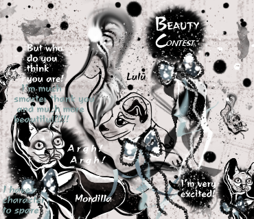 The contest Illust of Grandicelli Susanna May2021_Monochrome June2021_Anthropomorphism digitale anima animato etichetta animale cartone