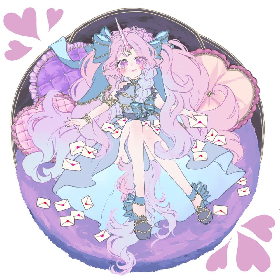 ❤︎❤︎❤︎ Illust of ribisu 創作イラスト girl oc