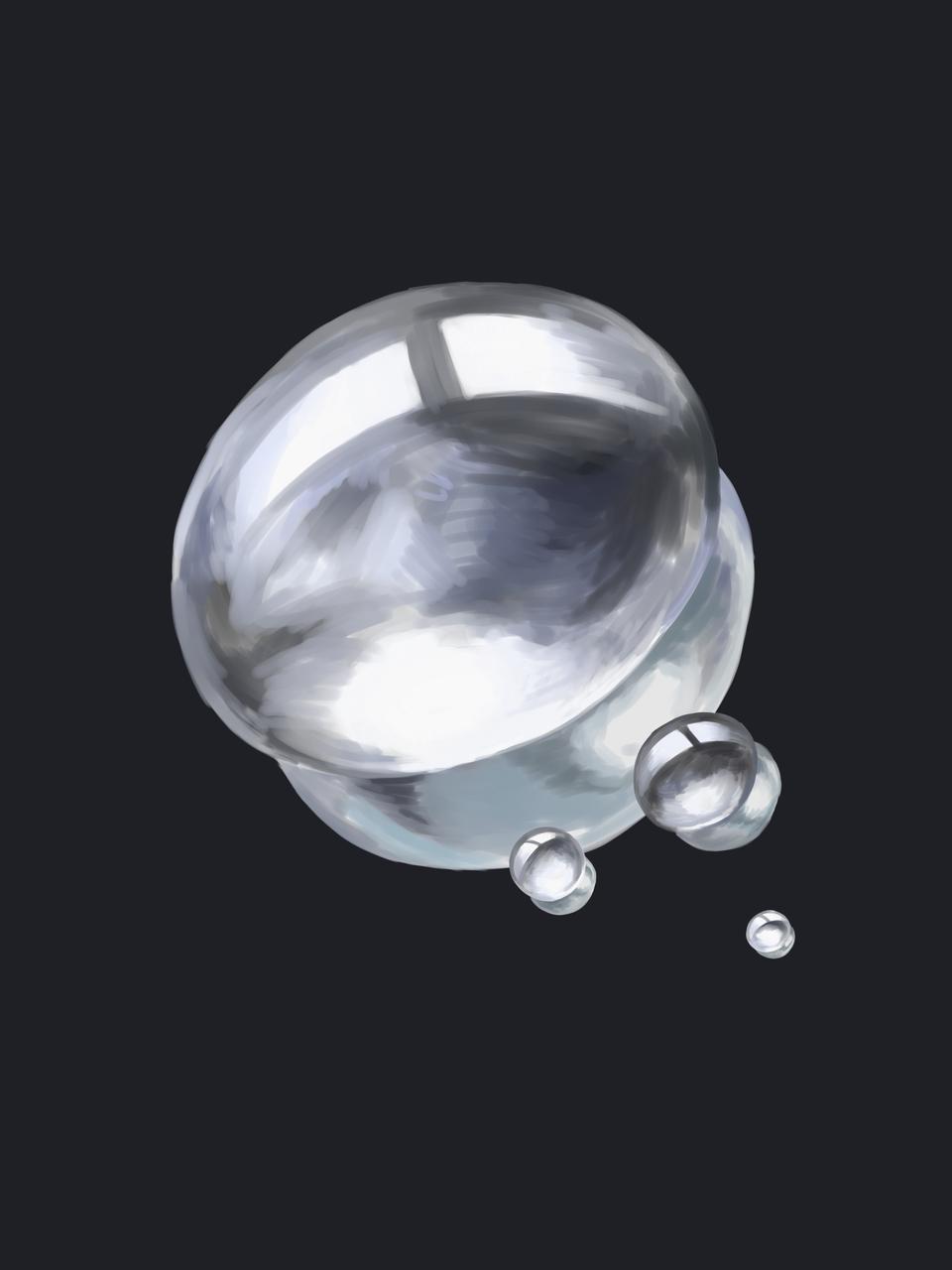 물방울 Illust of 삼색 고양이 medibangpaint