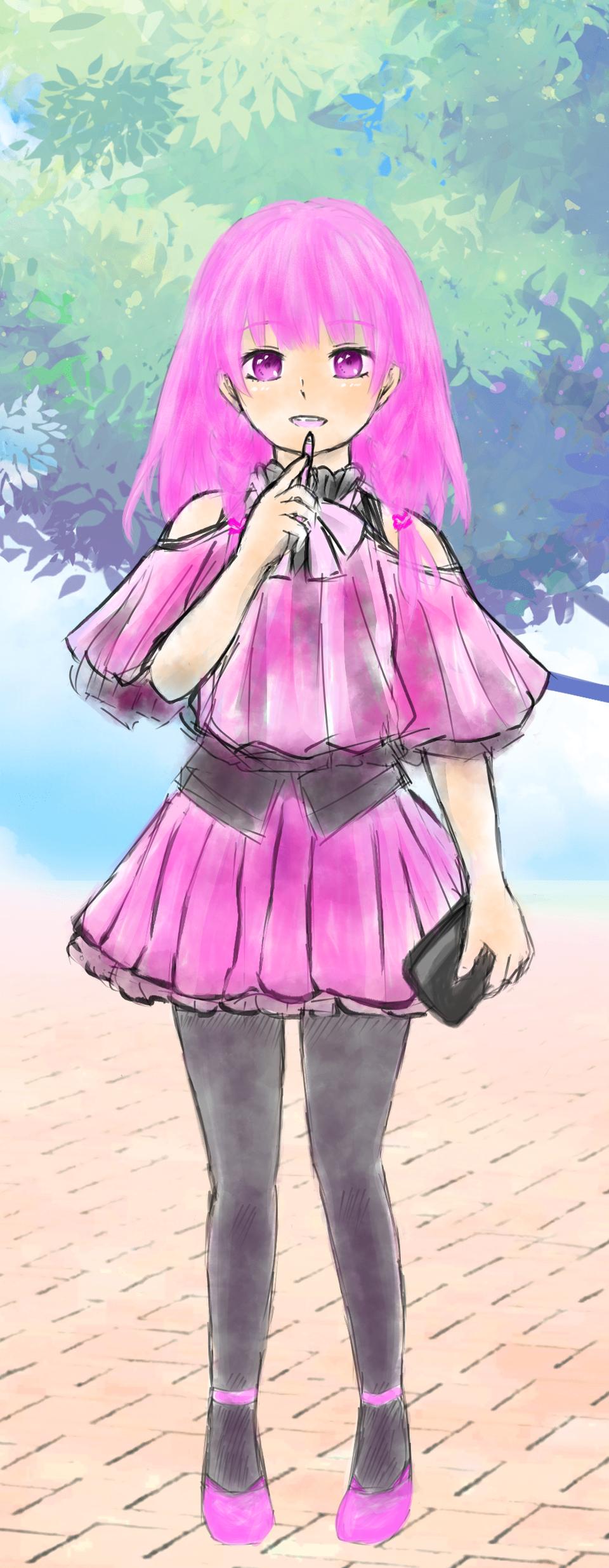 ピンクイメージ Illust of 嫺やか PASTEL_SKETCH2020 medibangpaint original girl pink