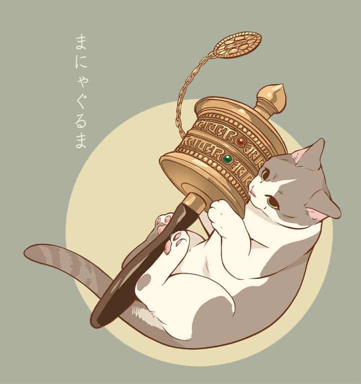 まにゃぐるま Illust of 砂虫隼 fantasy 生き物 animal oc cat original