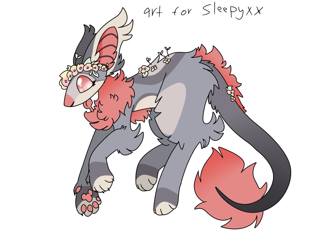 Art for Sleepyxx Illust of ❄Ash❄ Sarv mode medibangpaint Sleepyxx