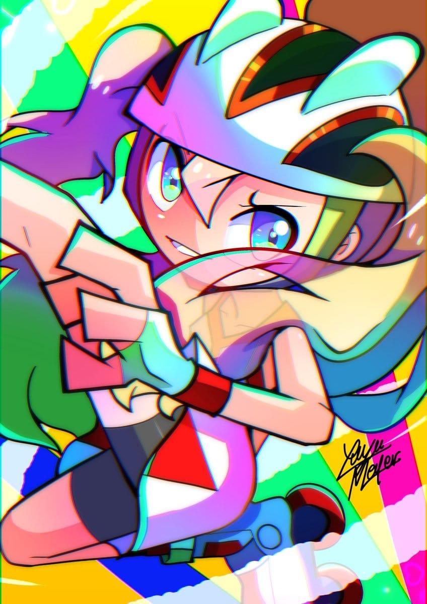 Korrina(コルニ) Illust of Yuyu Meyer cartoon game カートゥーン風 kawaii pokemon コルニ(ポケモン) ポケモンXY