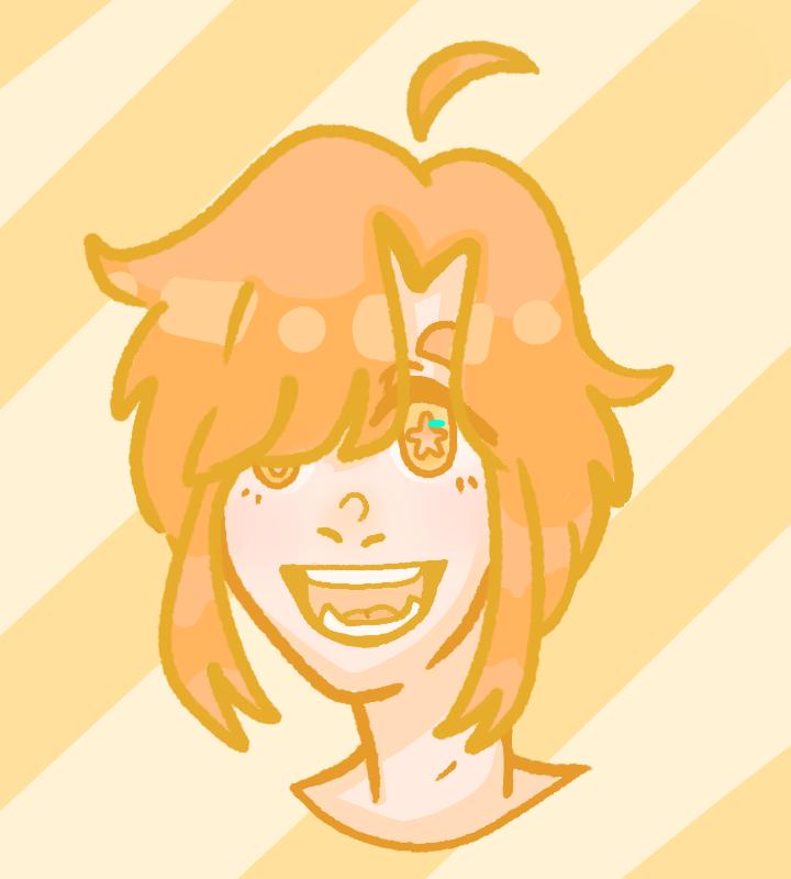 Staaaar Illust of Paper medibangpaint yellow cute star Androgynous