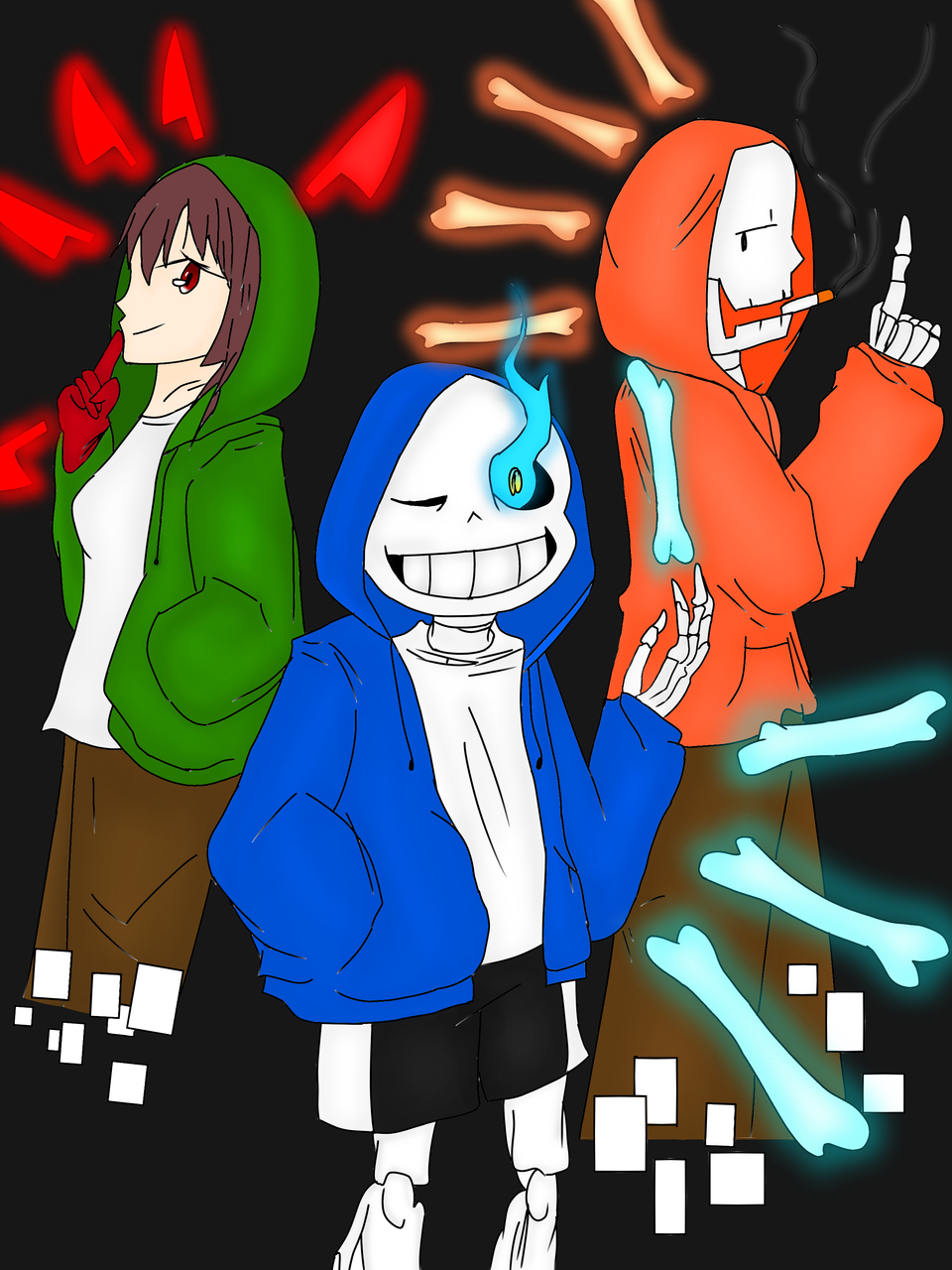 Bad Time Trio合作繪圖 Illust of 金兔 medibangpaint