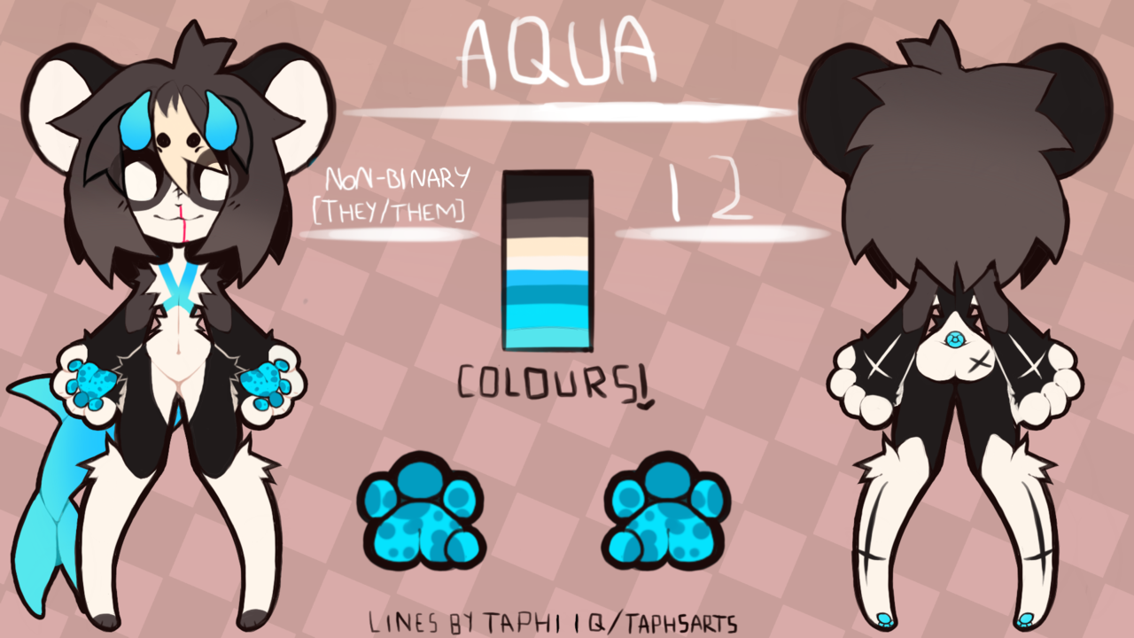 Aqua ref + F2U kemono furry base! Illust of KYYT OwO