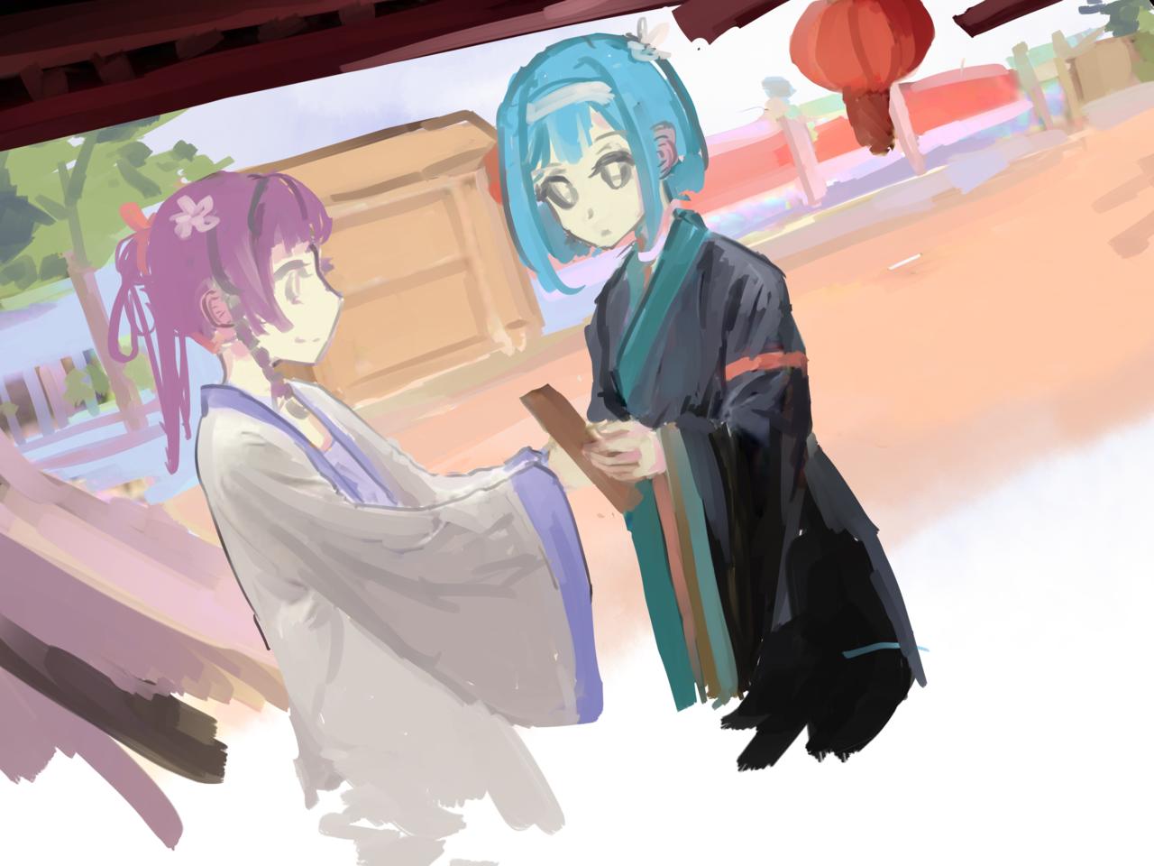 瑞and蓮(制作過程記録) Illust of 千弦 メイキング