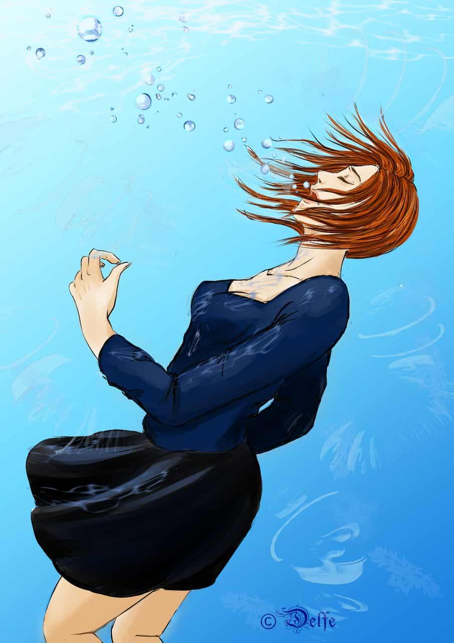 drawning Illust of Delfe ocean illustration alter water art feelings