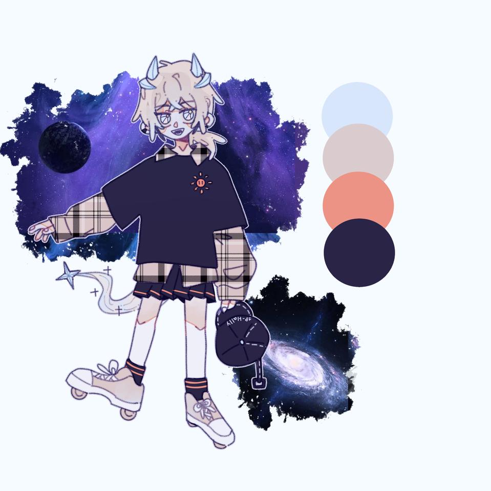 1P/Halley🌌 Illust of 余生太常💫 medibangpaint 人物 girl characterdesign original Fingerpaint 拟人