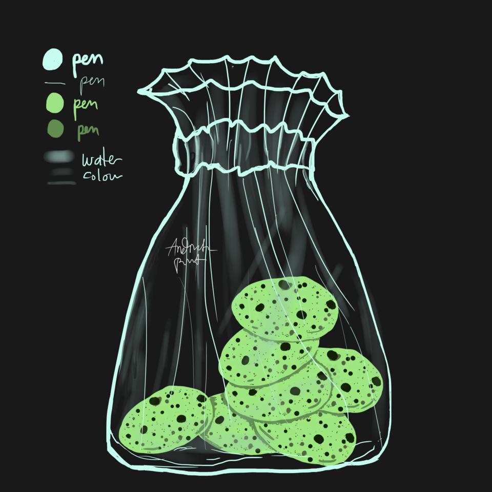Cookies in Plastic Illust of Andinatz medibangpaint iPad_raffle