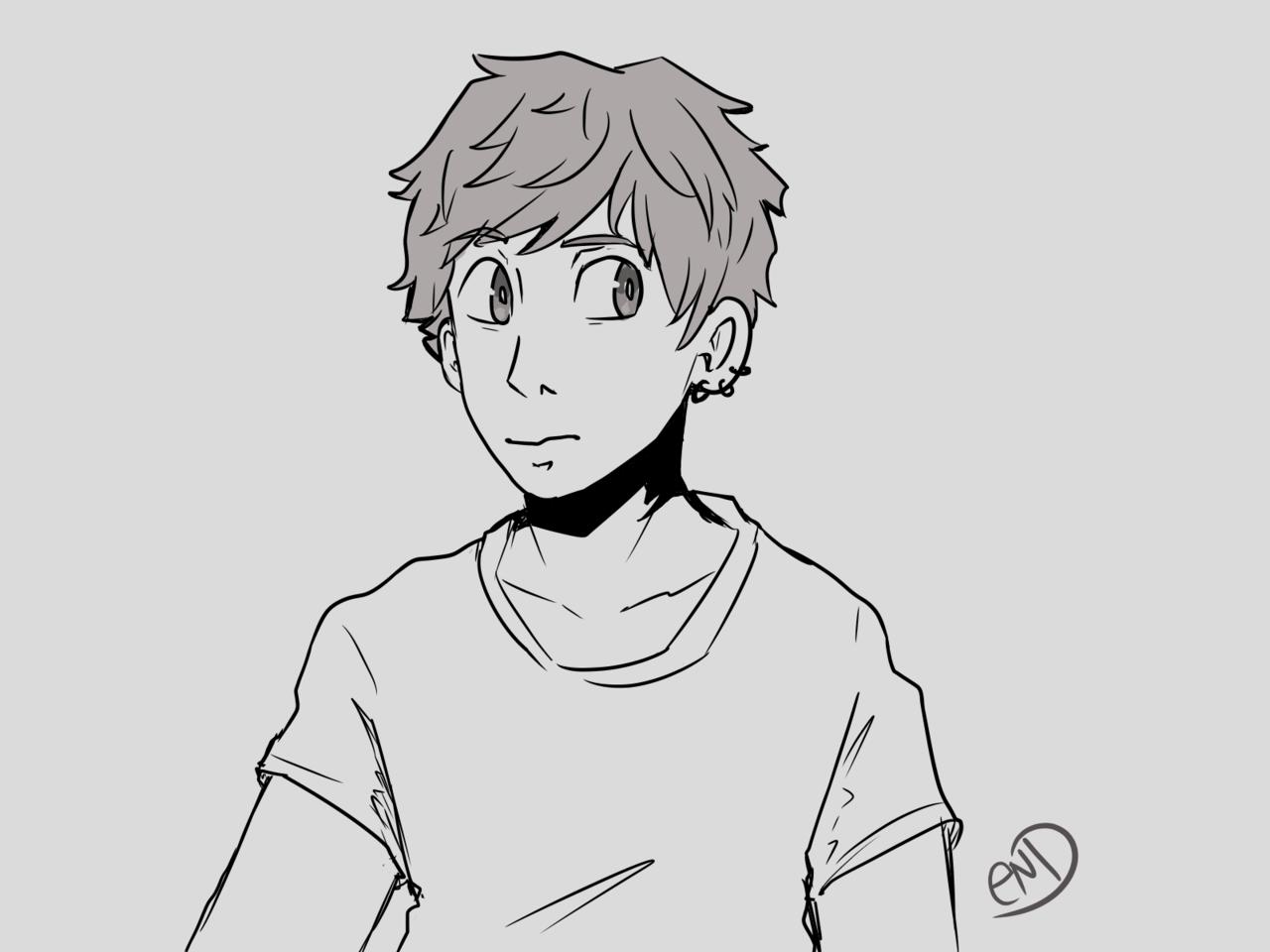 Random sketch Illust of DremEND (Dragon mode) oc sketch boy