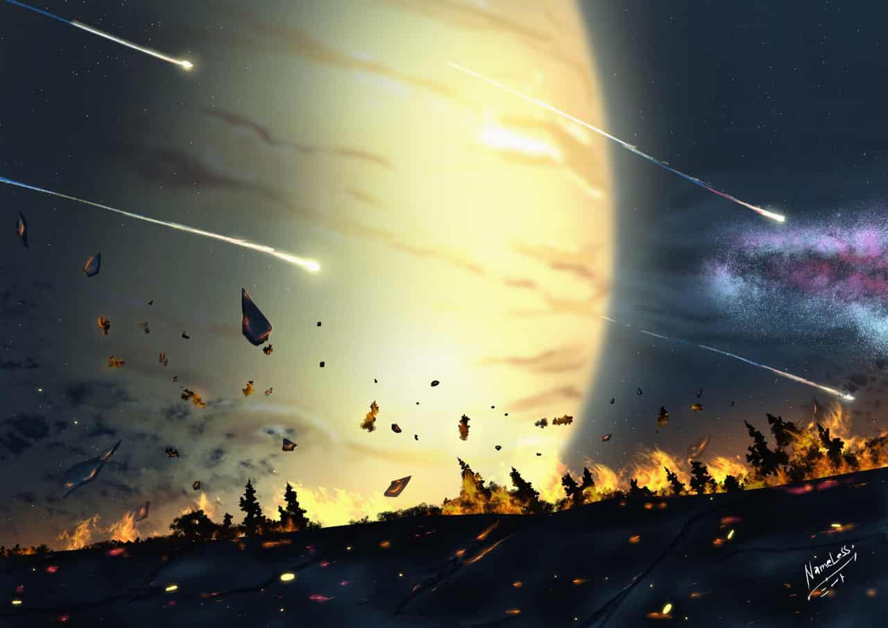 Jupiter Closing In Illust of NameLess+NEET🕯️ backgr anime jupiter