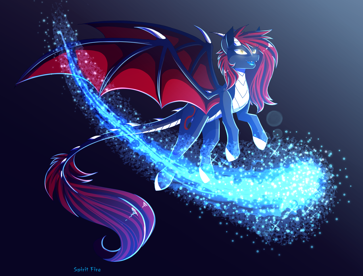 Scarlet (sketch request gift) Illust of Spirit Fire medibangpaint pony art