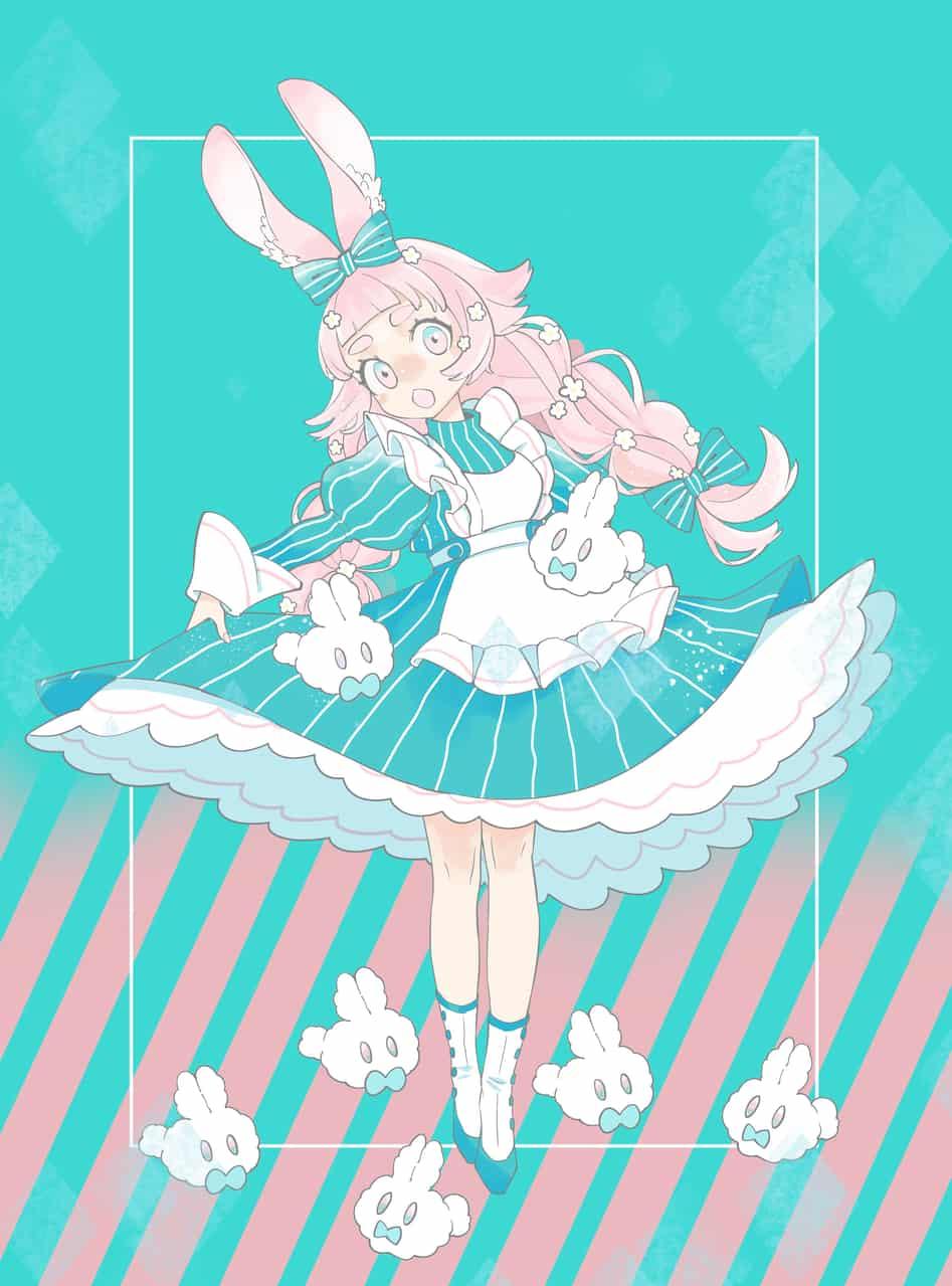 イースター Illust of komo March.2020Contest:Easter medibangpaint girl うさぎ耳 kawaii rabbit ロリーター cutegirl