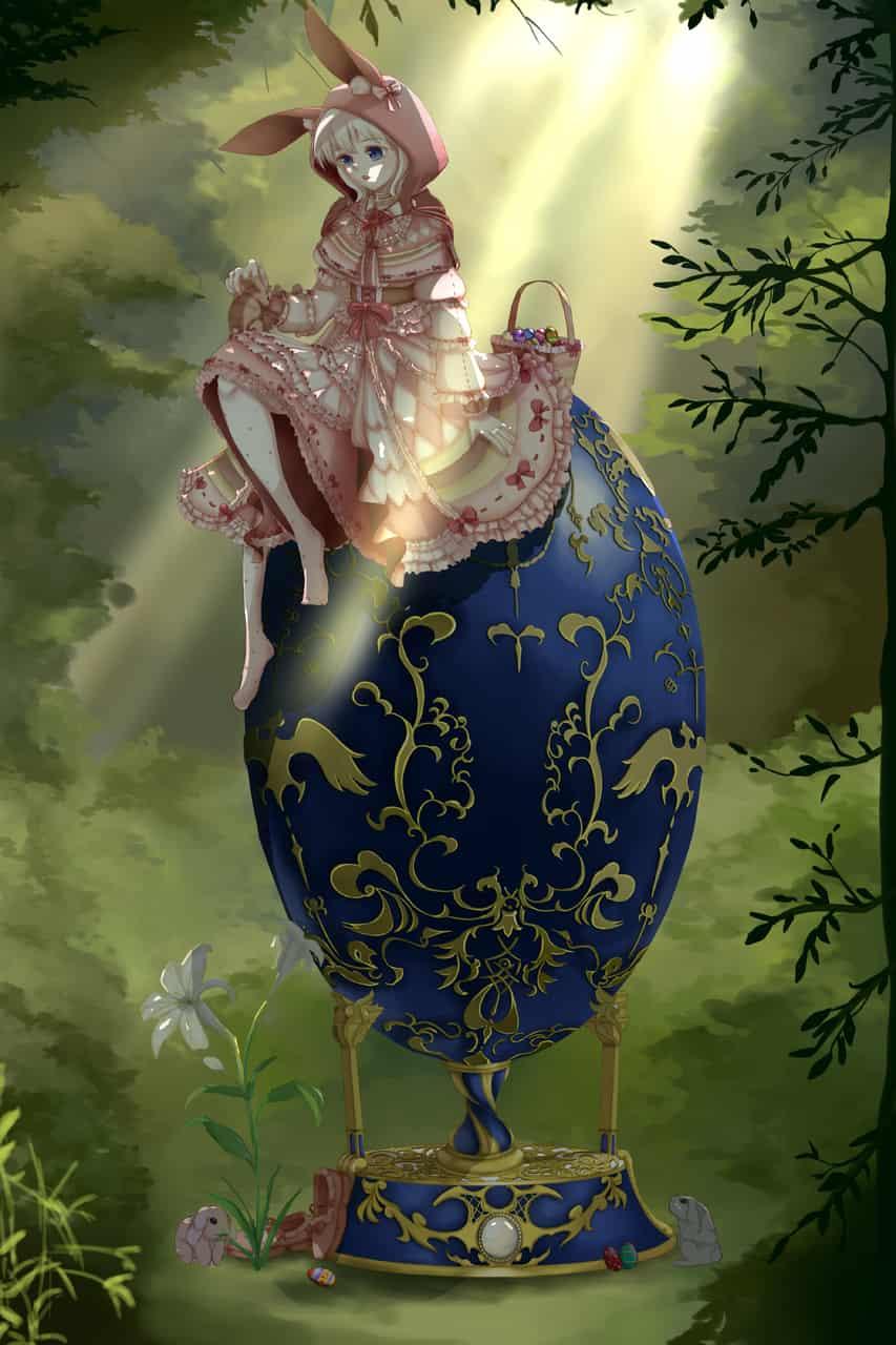 森の中のイースターエッグ Illust of 小傑 March.2020Contest:Easter