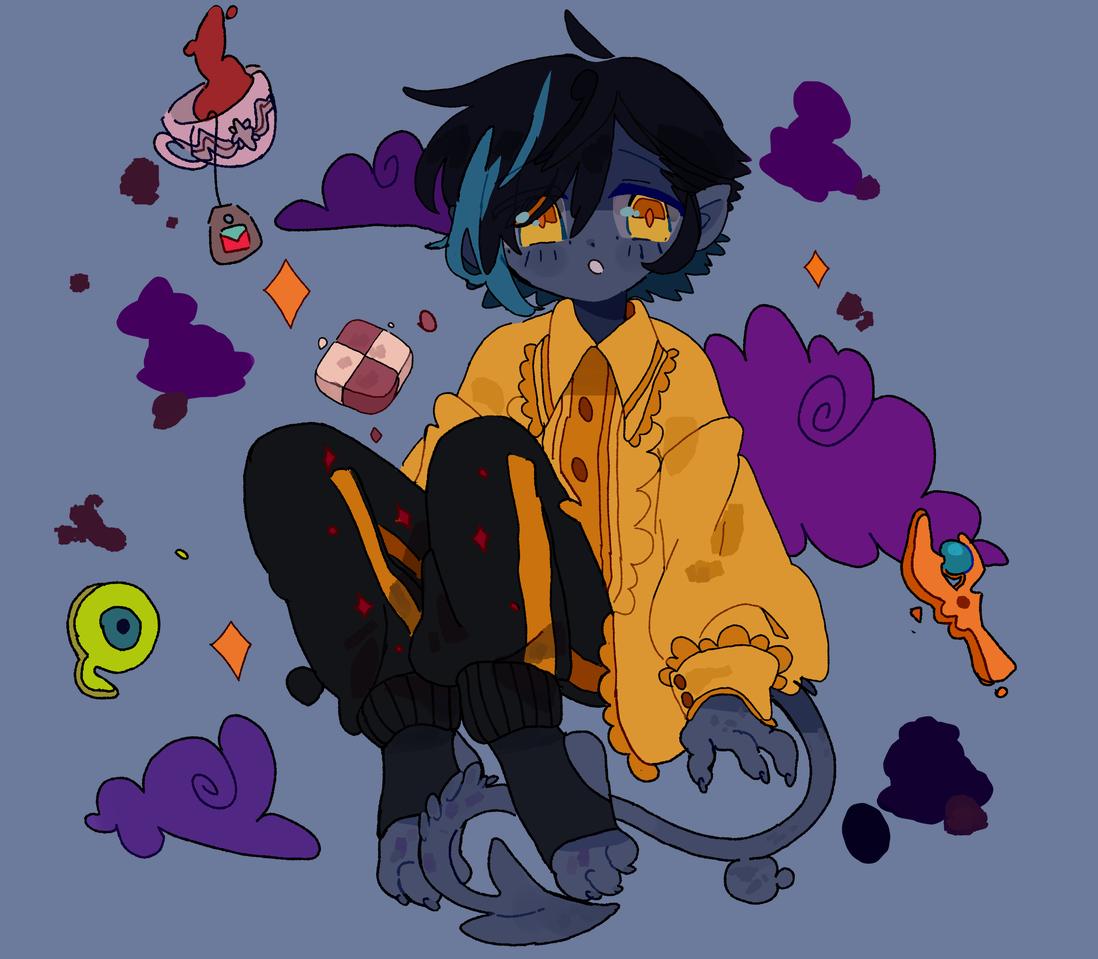 Commission on DA  Nightcrawler Illust of D3ed_Girl digital cute boy medibangpaint