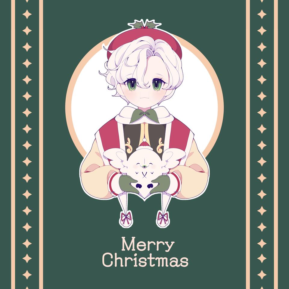 Merry Christmas  Illust of 유정/YJ medibangpaint Christmas white_hair kawaii