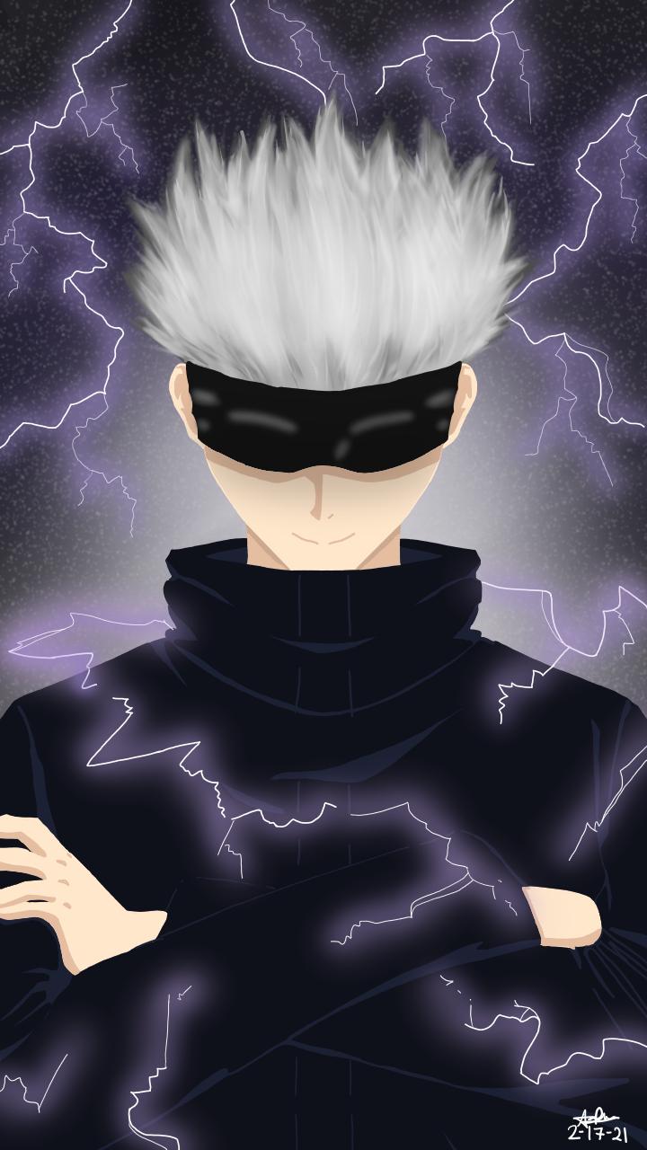 Lightnings & Gojo Satoru - Fanart! Illust of DreyV JujutsuKaisenFanartContest Lightning fanart JujutsuKaisen digital SatoruGojō