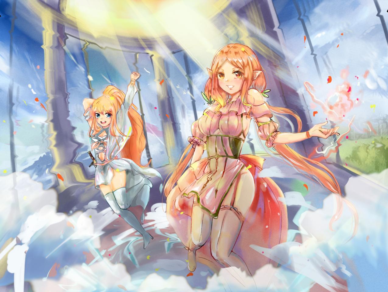 重生點 Illust of tacit February2021_Fantasy 妹子 魔法 girl