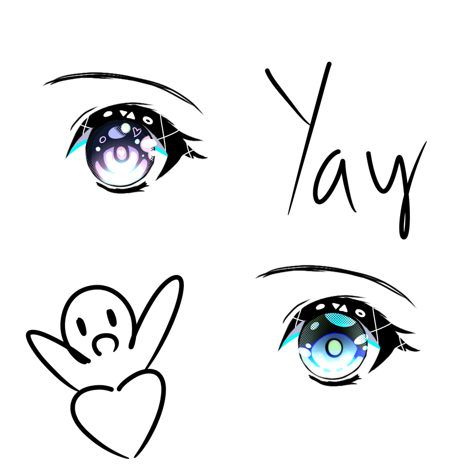 I'm trying other styles(?) and this is what happen Illust of UNDERDOGS. medibangpaint eyes random
