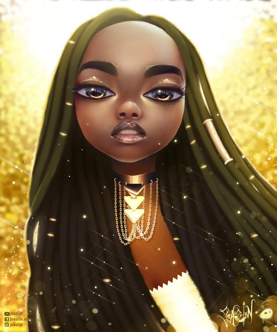 ✨ Gold ✨ Gold ✨ Gold ✨ Illust of JoAsLiN eyes anime Golden girl oc cute illustration gold portrait digital