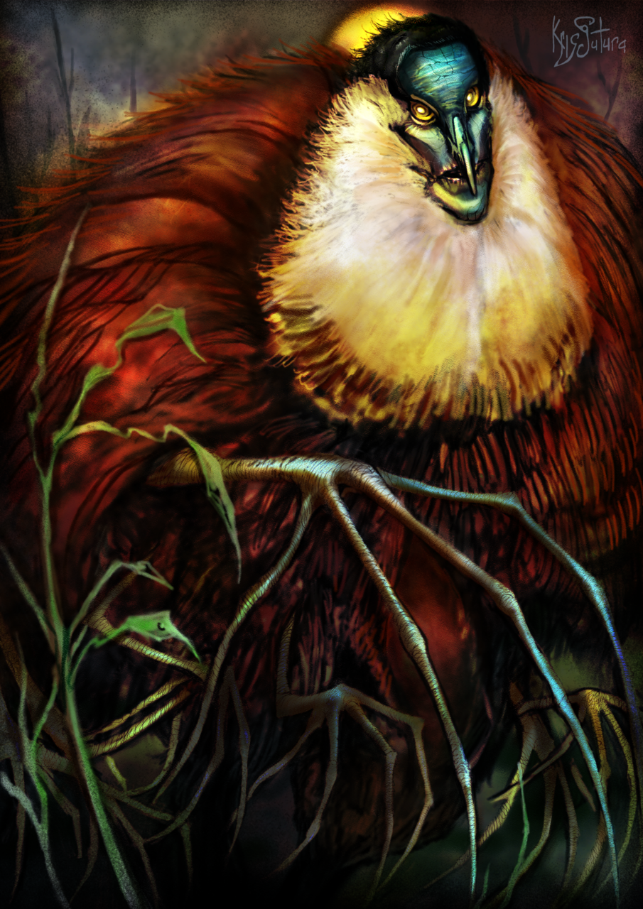 Dad   African Jacana with its Younglings Illust of Kristina Avanyan (Kris Sutura) March2021_Creature
