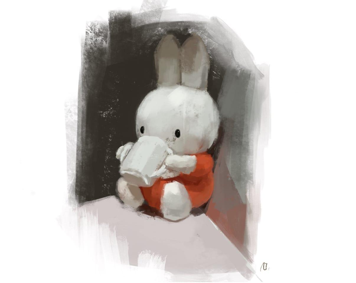 miffy Illust of Geronika miffy illustration ミッフィー procreate