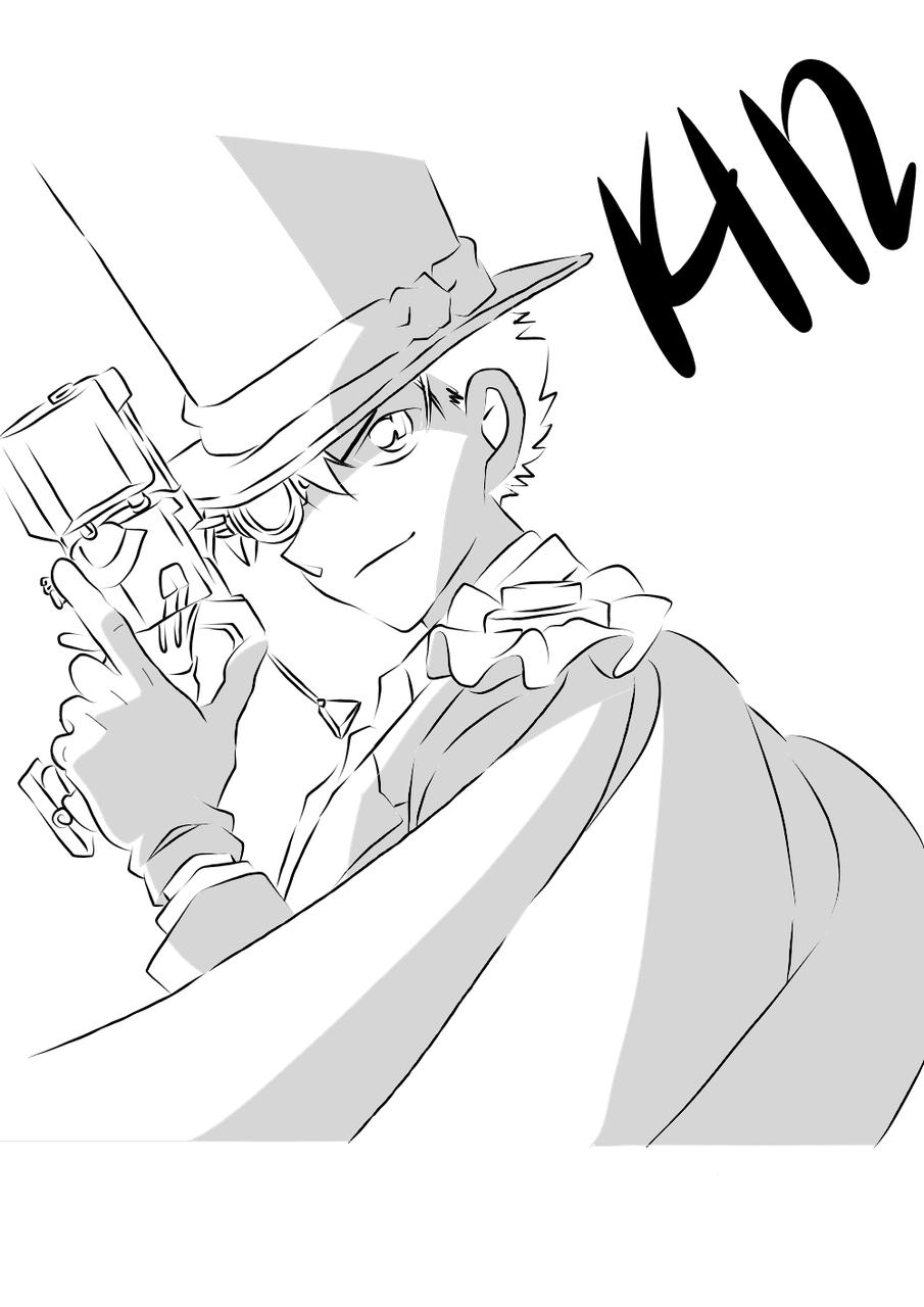 怪盜基德 Kid (Black&white)