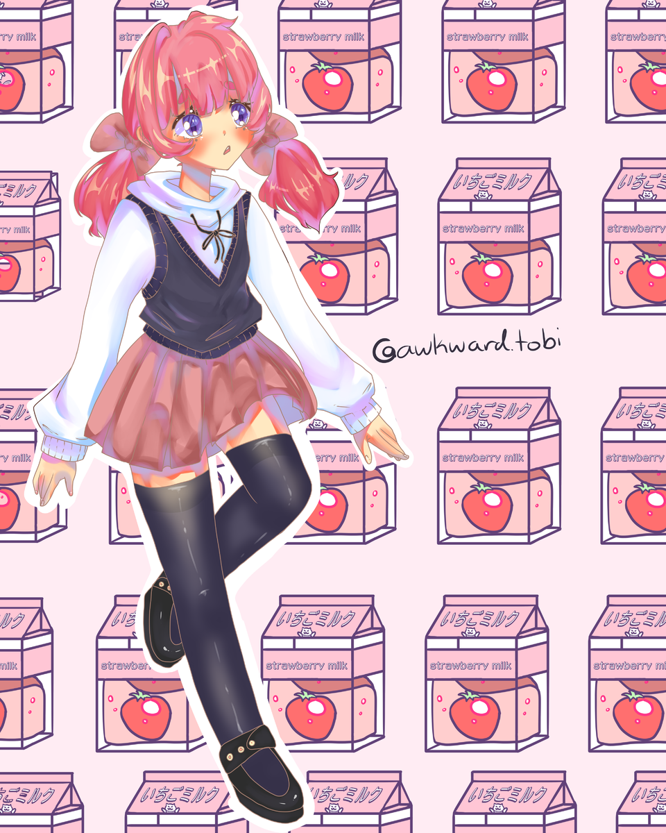 Saoko Inko's offiial design tho Illust of AwkwardTobi art illustration MyArt anime sketch oc