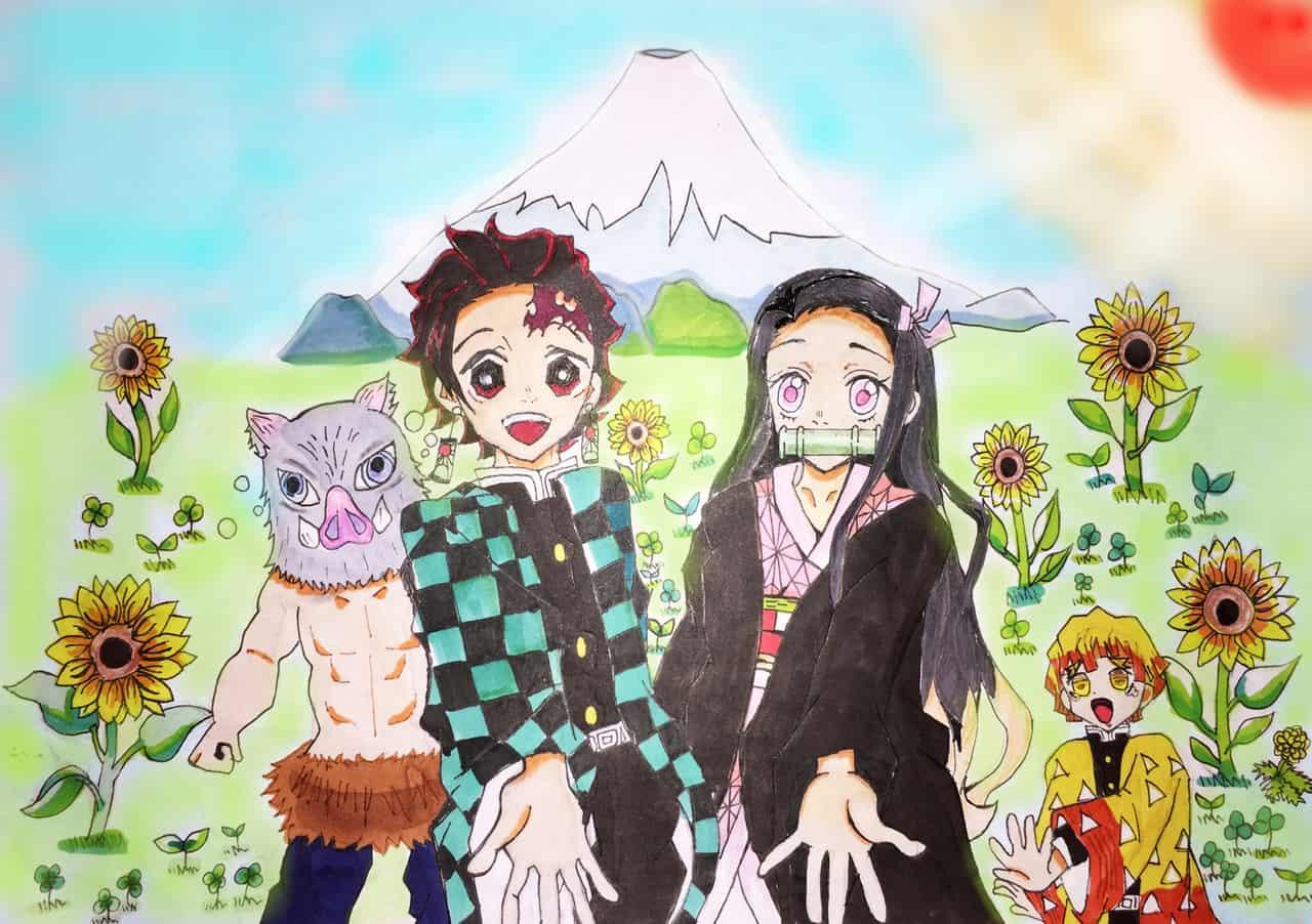 かまぼこ隊、富士山へ集合! Illust of ららん&コッテン DemonSlayerFanartContest KamadoNezuko KimetsunoYaiba KamadoTanjirou AgatsumaZenitsu 未来を見つめて HashibiraInosuke