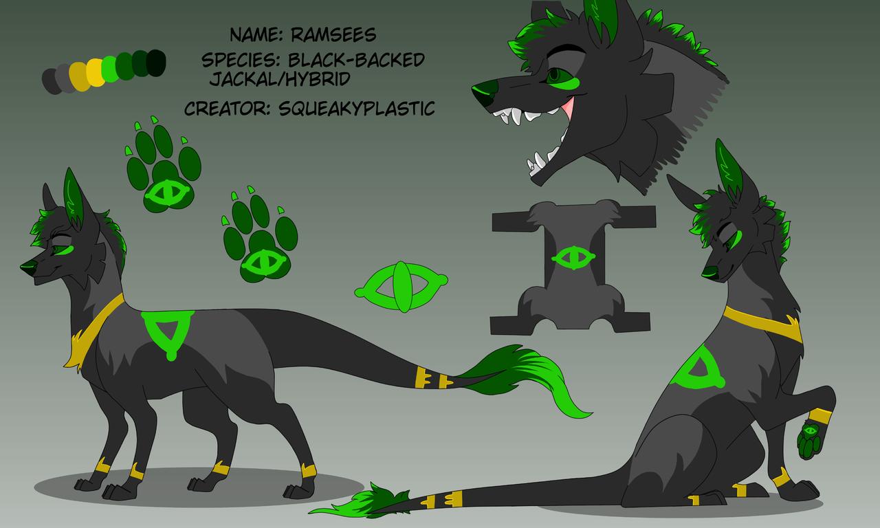 Ramsees Character REF [rework] Illust of Squeaky Plastic medibangpaint furry REF oc