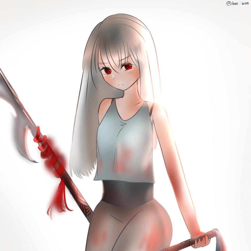 자ㅋ ㅐ 유혈 Illust of 반: :원 medibangpaint character girl drawing blood