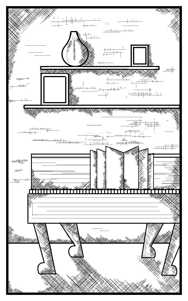The lonely piano Illust of SIRI PRIYA. P May2021_Monochrome medibangpaint