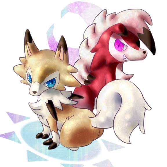 昼と夜のルガルガン達 Illust of 猫耳 pokemon ルガルガン