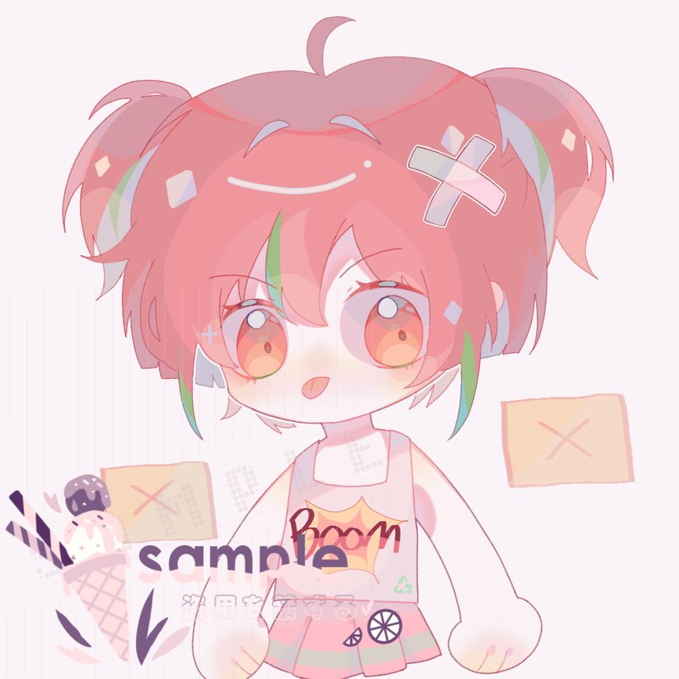 畫了朋友人設,顏色自己配的() Illust of 桜庭花莓. medibangpaint