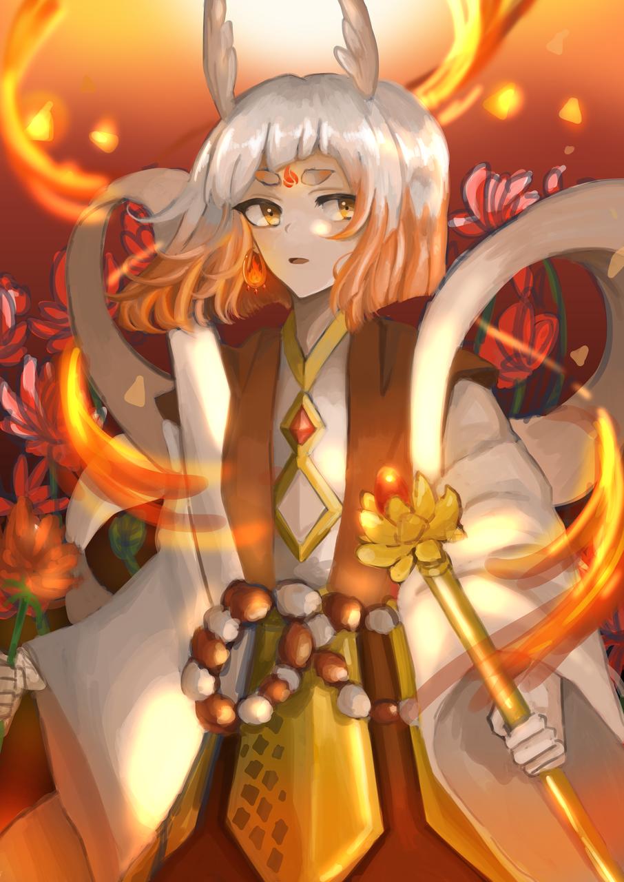 四大神獸 焱•朱雀 Illust of janejane MySecretSocietyContest April2021_Flower