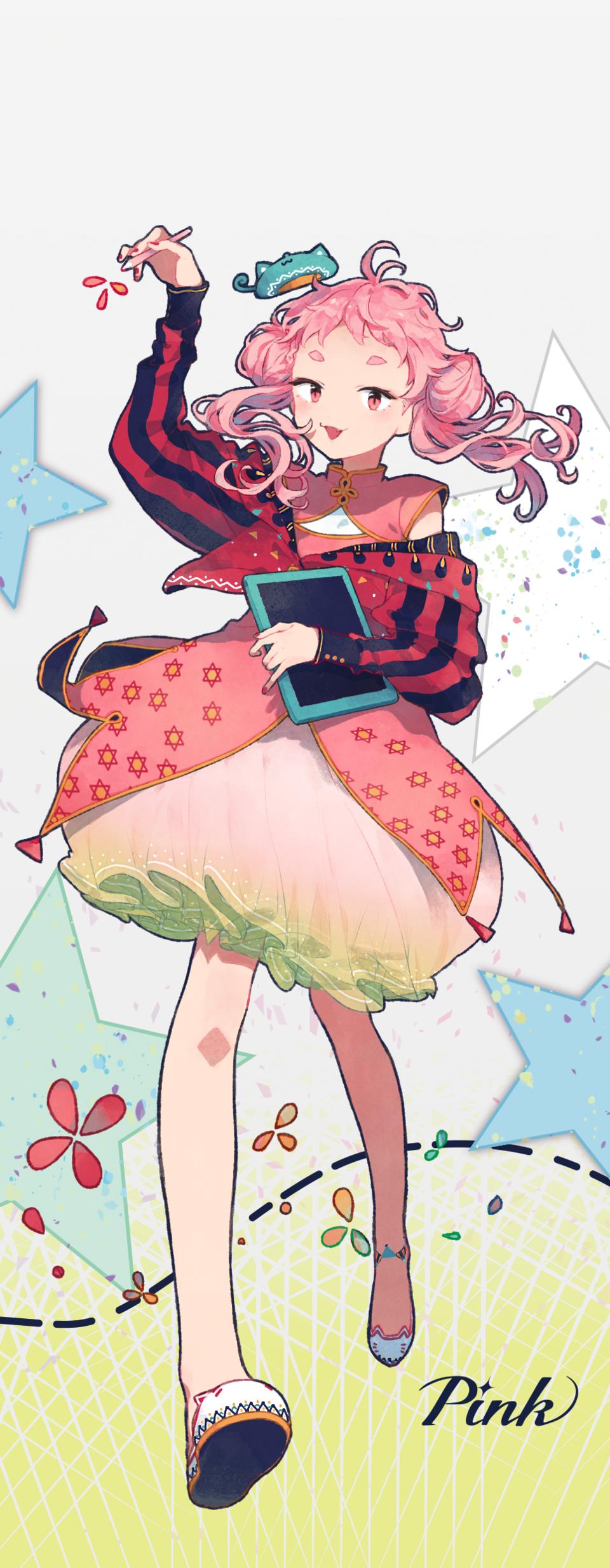 PASTEL SKETCH Pink Illust of みりん PASTEL_SKETCH