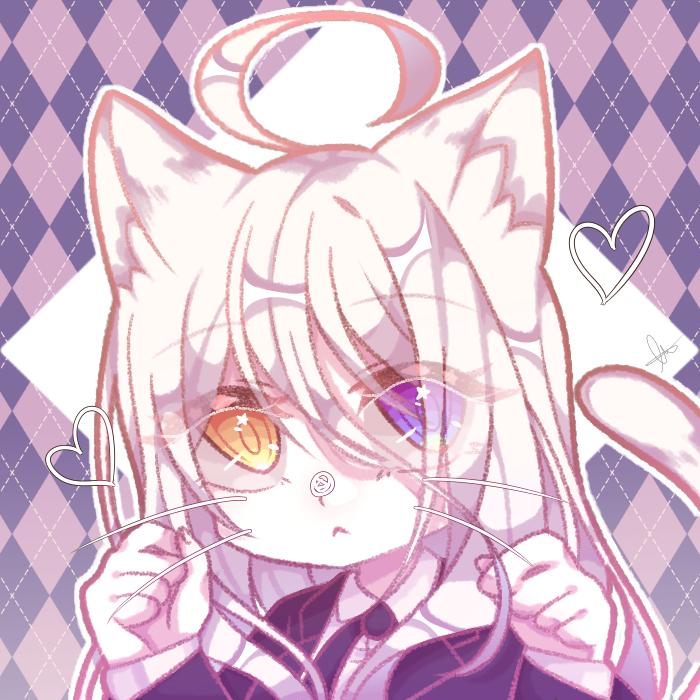 자캐를 그려봤다 - 메리제인 Illust of 🍀엘뤼이스 medibangpaint girl 獣人 여캐 오드아이 cat_ears cat white_hair