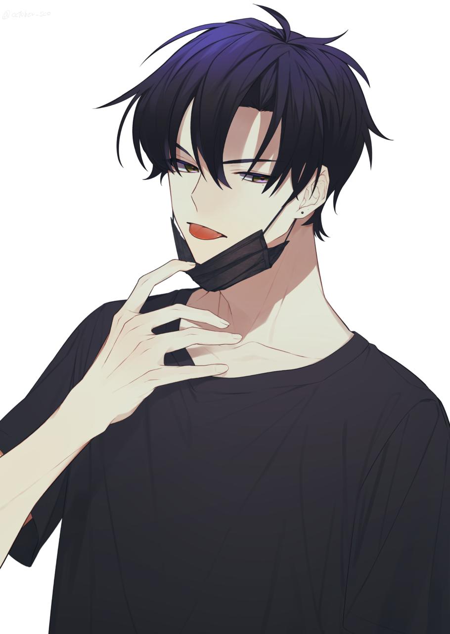 んべ Illust of ひじろ original boy 黒マスク