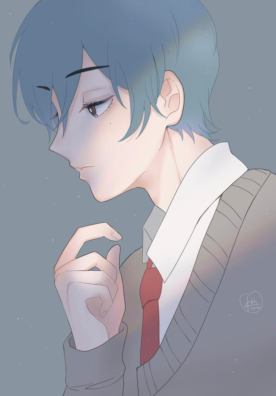 blue Illust of krisppie medibangpaint illustration rkgk anime