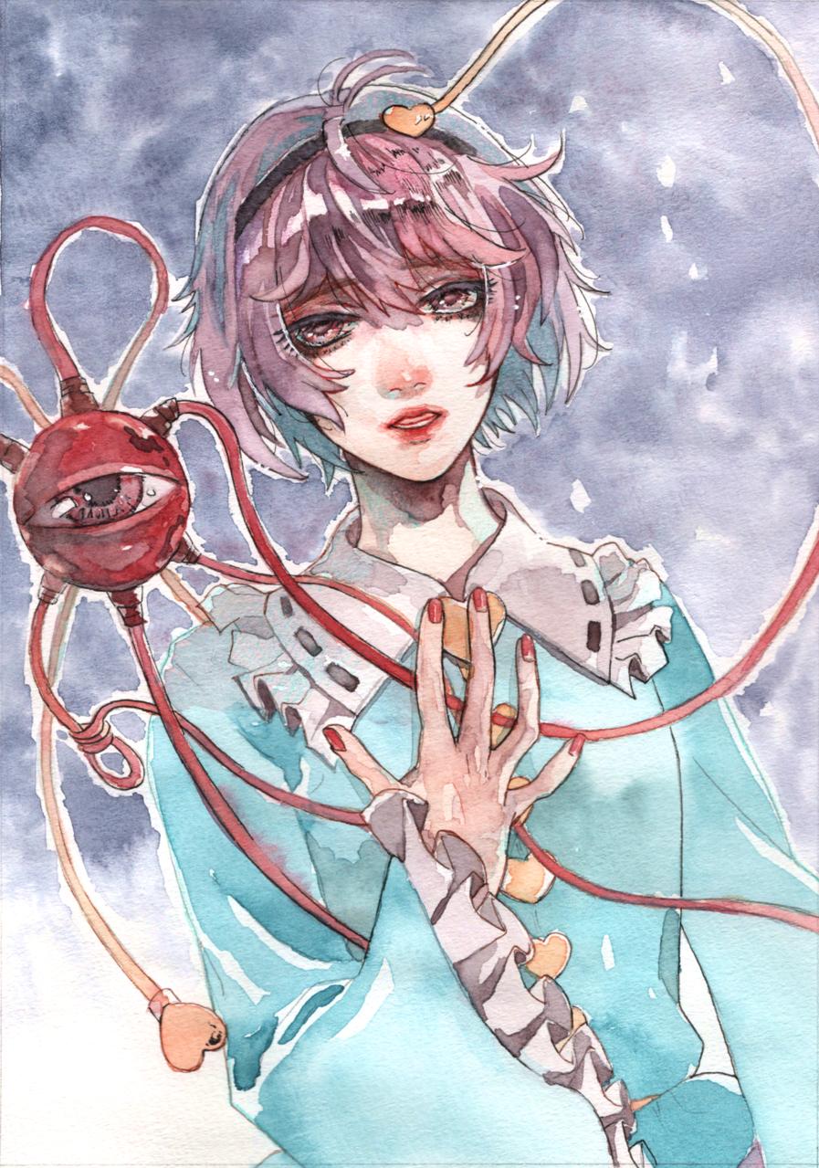 憂い Illust of さねあき 透明水彩 fanart Touhou_Project watercolor 古明地さとり