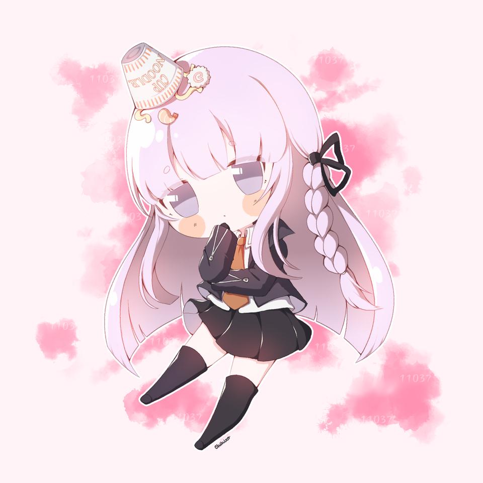 Kyoko Illust of Chi medibangpaint anime videogame chibi Danganronpa