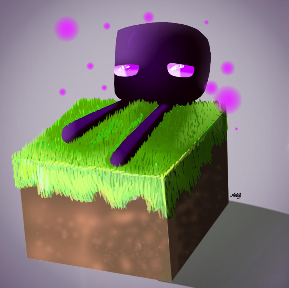 Enderman  Illust of Addy🌸 Minecraft bloque enderman