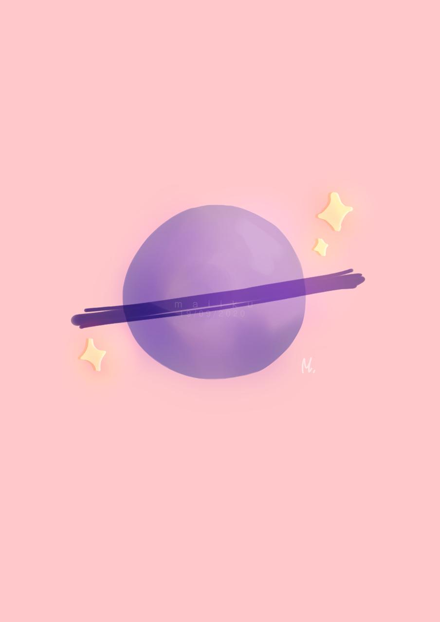 Planet  Illust of Maiiku medibangpaint Planet Maiiku aesthetic