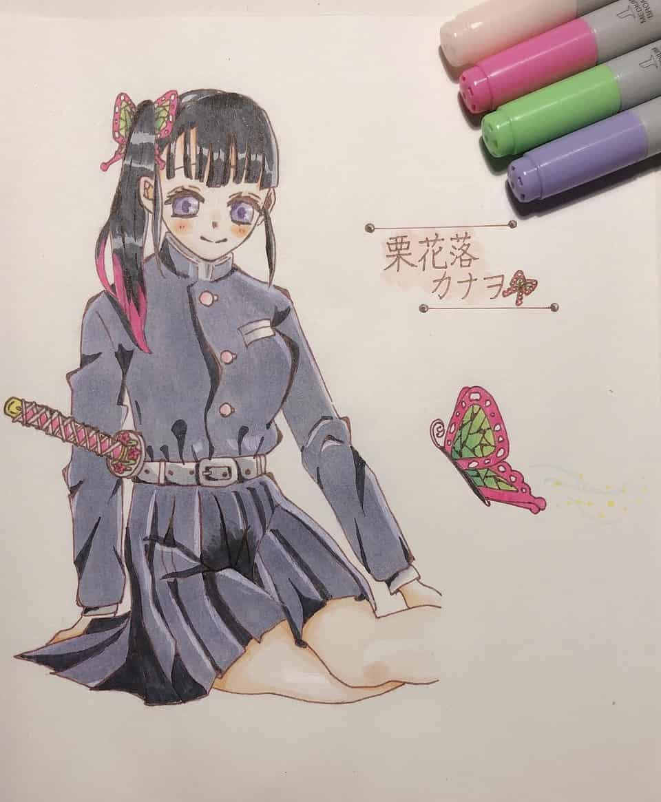 コピックイラスト Illust of ちちゃん 蝶々 コピックイラスト